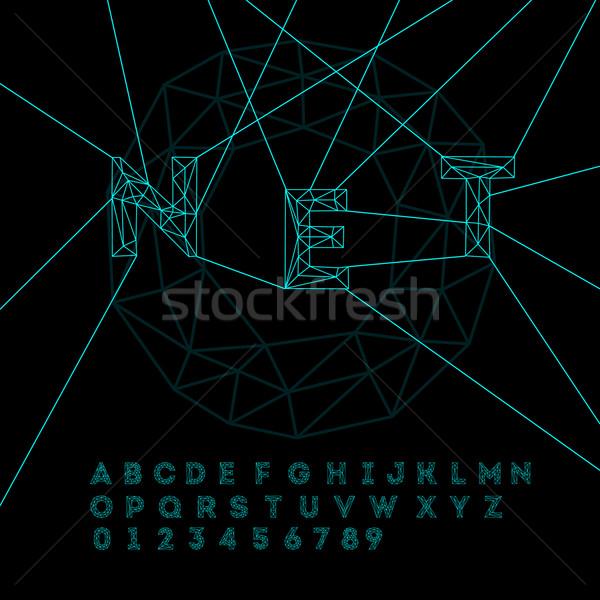 Espace technologie alphabet vecteur eps10 illustration Photo stock © ikopylov