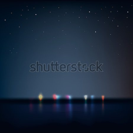 Night city view from the coast Stock photo © ikopylov