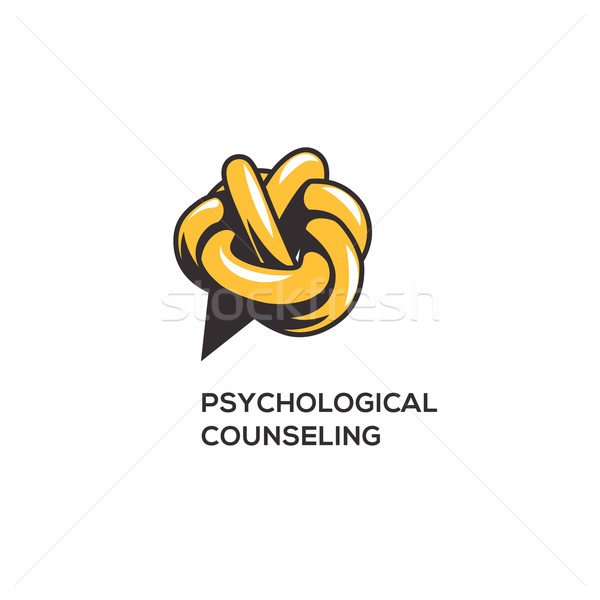 Psychologie conception de logo médicaux design technologie Photo stock © ikopylov