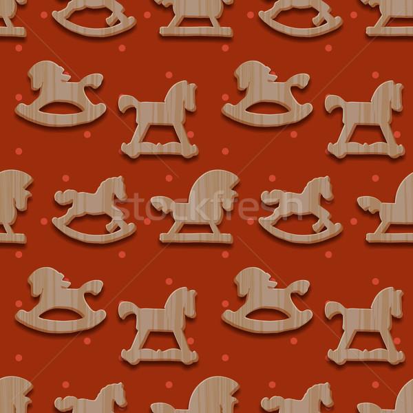 Noël jouets chevaux vecteur eps10 Photo stock © ikopylov