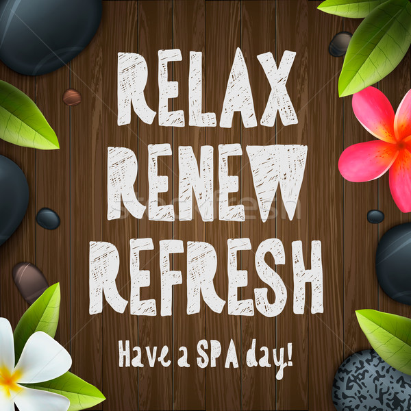 Spa day, relax, renew, refresh Stock photo © ikopylov
