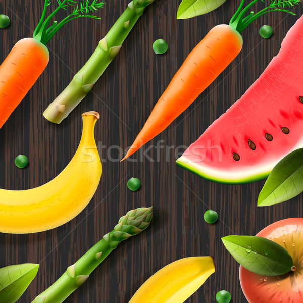 Healthy fresh organic products, advertising poster Stock photo © ikopylov