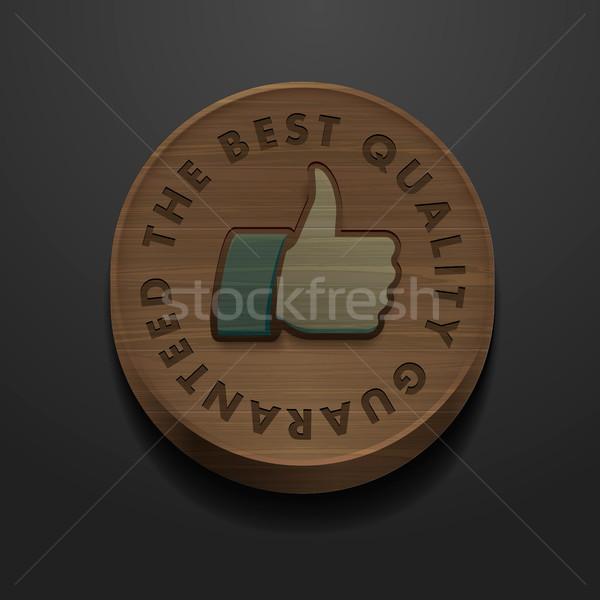 Mejor calidad garantizar icono vintage diseno Foto stock © ikopylov