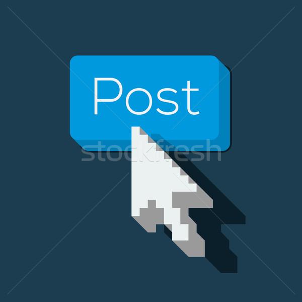 Post botón flecha cursor vector Foto stock © ikopylov