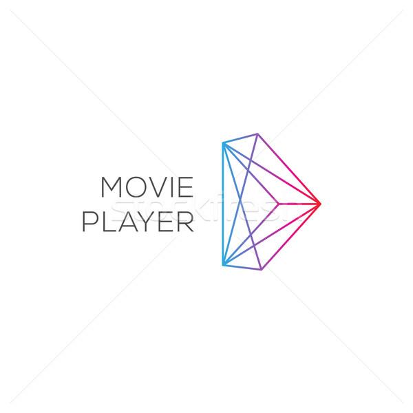 Film játékos absztrakt színes játék logotípus Stock fotó © ikopylov