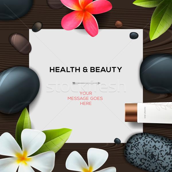 Egészség szépség sablon természetes fürdő kozmetika Stock fotó © ikopylov