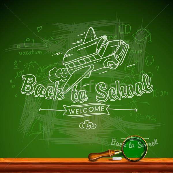 De volta à escola lousa vetor eps10 imagem escolas Foto stock © ikopylov