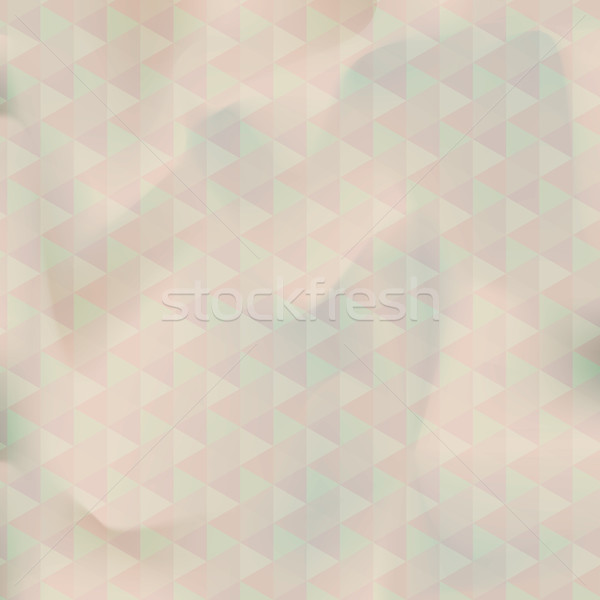 Old paper texture with geometric pattern Stock photo © ikopylov