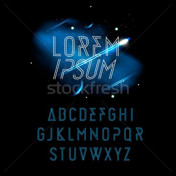 Space Alphabet, vector Eps 10 illustration. Stock photo © ikopylov