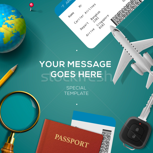 Travelling template, travel and vacation concept Stock photo © ikopylov