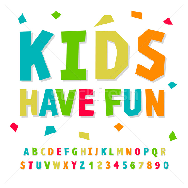 Creative kids funny alphabet and numbers Stock photo © ikopylov