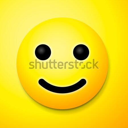 Yellow laughing happy smile, emoji smile symbol Stock photo © ikopylov