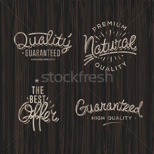 Premium quality labels Stock photo © ikopylov