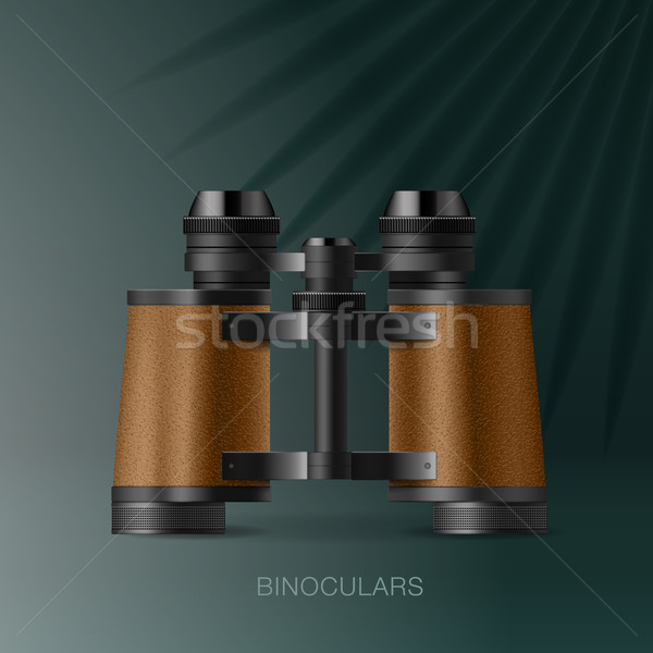 Binoculars, adventure concept for scientific expedition Stock photo © ikopylov