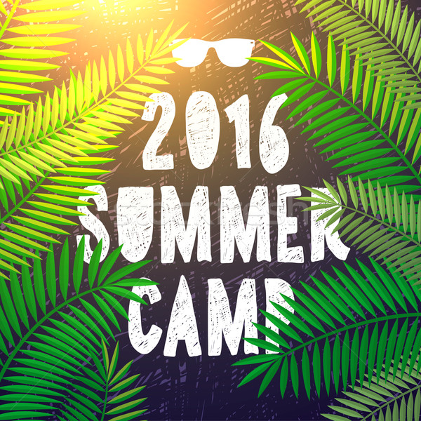 Summer camp 2016, themed and vacation poster Stock photo © ikopylov