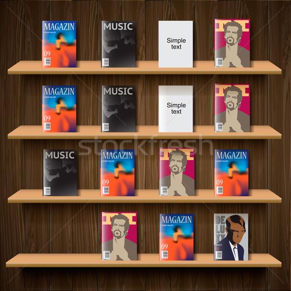 Vettore eps10 illustrazione mobile store magazine Foto d'archivio © ikopylov