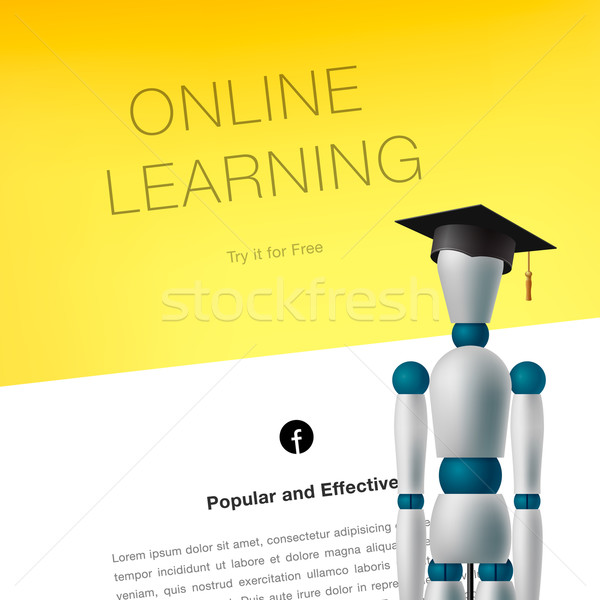 Online learning concept template Stock photo © ikopylov