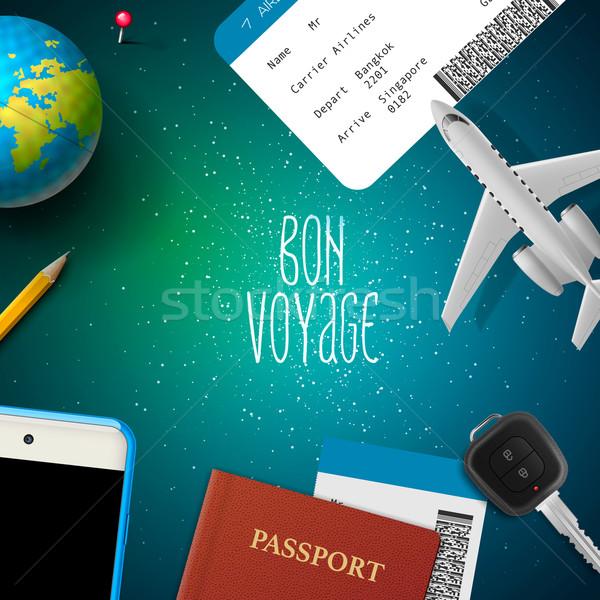 Bon voyage, planning vacation trip Stock photo © ikopylov