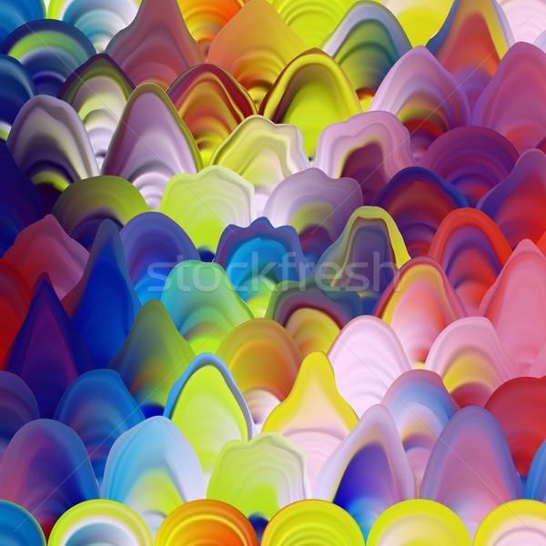 Abstract schilderij sjabloon marmer textuur patroon Stockfoto © ikopylov