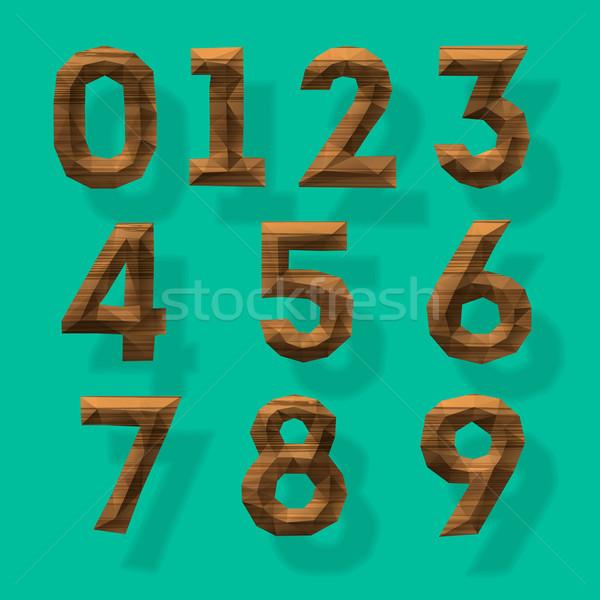 Wooden polygonal numbers, part 4 Stock photo © ikopylov