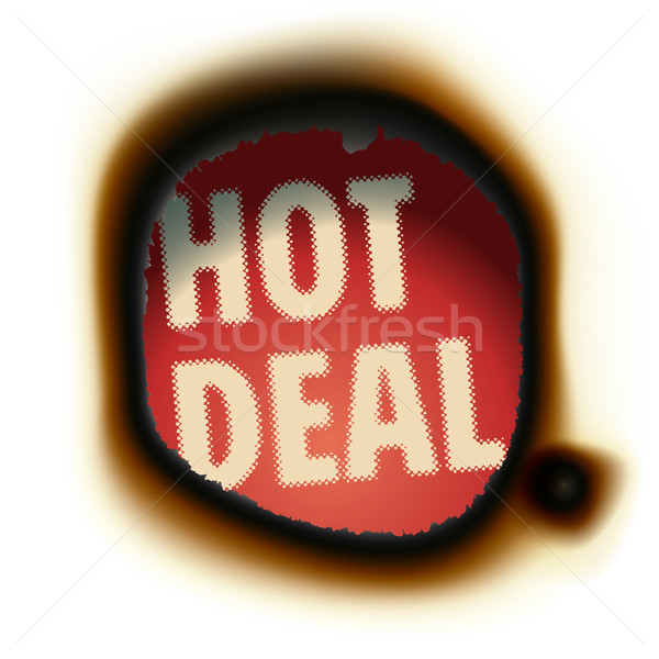 Hot Deal - burned paper background with text Stock photo © ikopylov