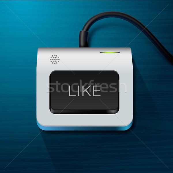 Billentyűzet ahogy kulcs internet vektor eps10 Stock fotó © ikopylov