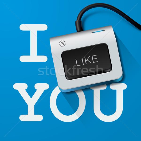Stock fotó: Ahogy · billentyűzet · kulcs · vektor · eps10 · illusztráció