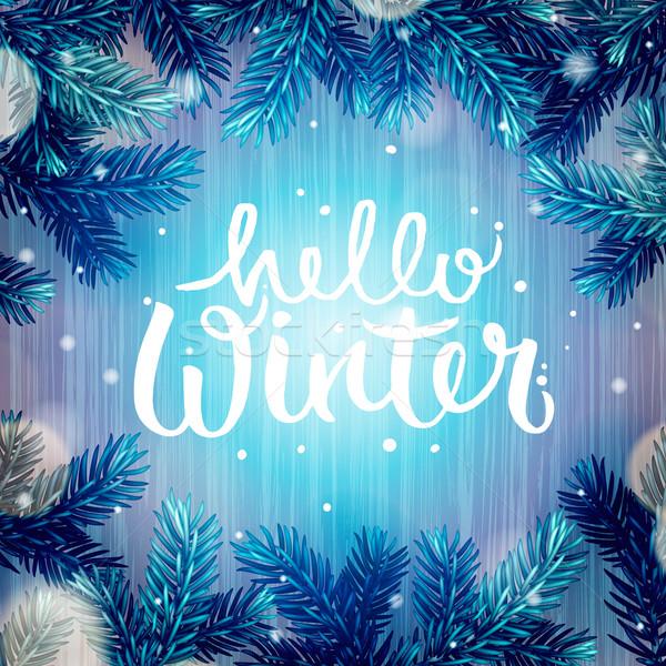 Zimą wakacje christmas płatki śniegu szczęśliwy Zdjęcia stock © ikopylov