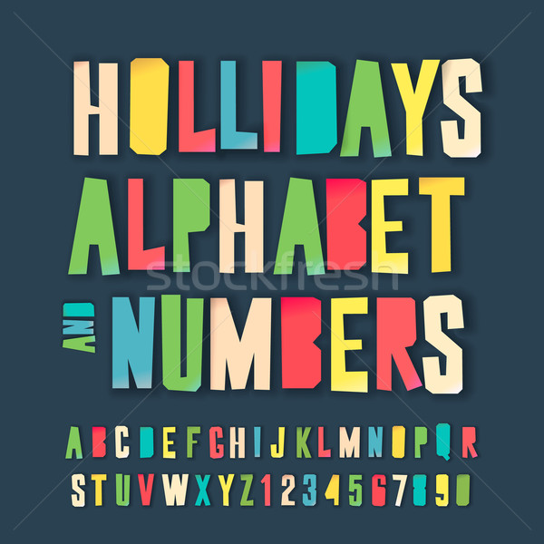 Holidays colorful alphabet and numbers Stock photo © ikopylov