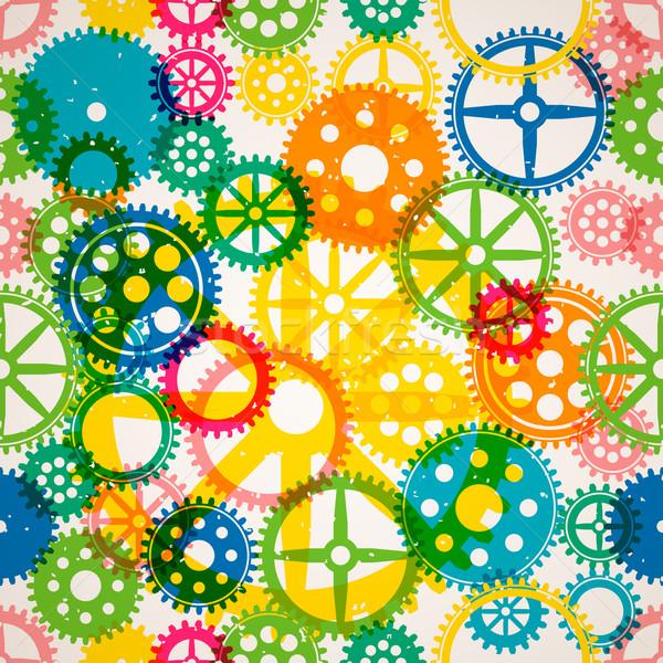 Seamless clockwork colorful background Stock photo © ikopylov