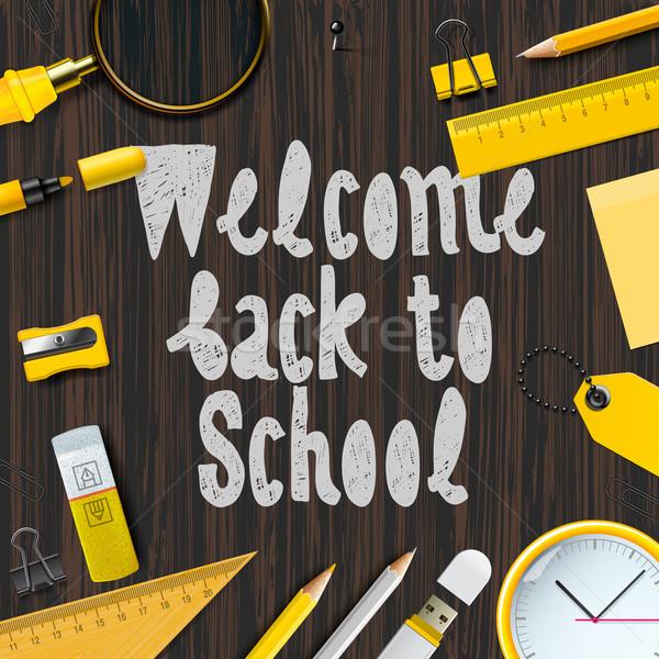 Welcome back to school background Stock photo © ikopylov