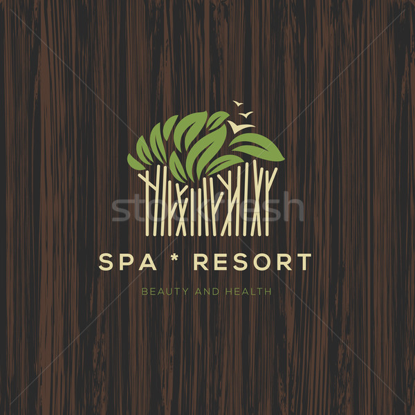 Logotype for spa resort or beauty business Stock photo © ikopylov