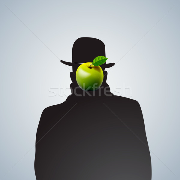 Silhouette of man with face obscure. Stock photo © ikopylov