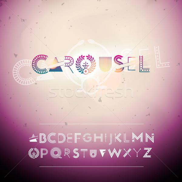 Swirly Alphabet Stock photo © ikopylov