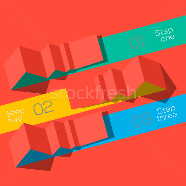 Modern design info graphic template origami styled Stock photo © ikopylov