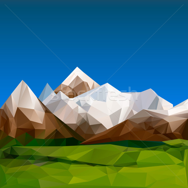 Mountainous terrain, polygonal background Stock photo © ikopylov
