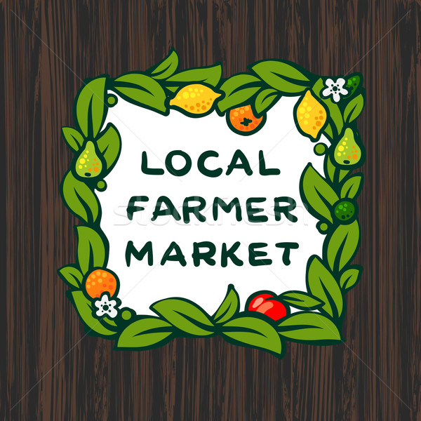 Local farmer market, farm logo design Stock photo © ikopylov
