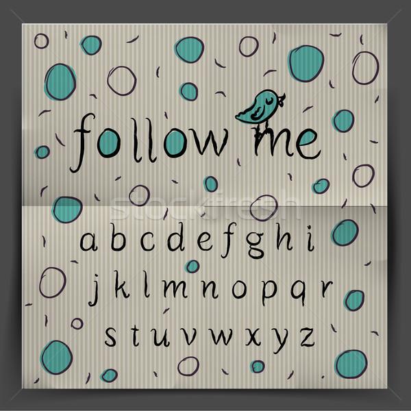 почерк алфавит мне вектора eps10 иллюстрация Сток-фото © ikopylov