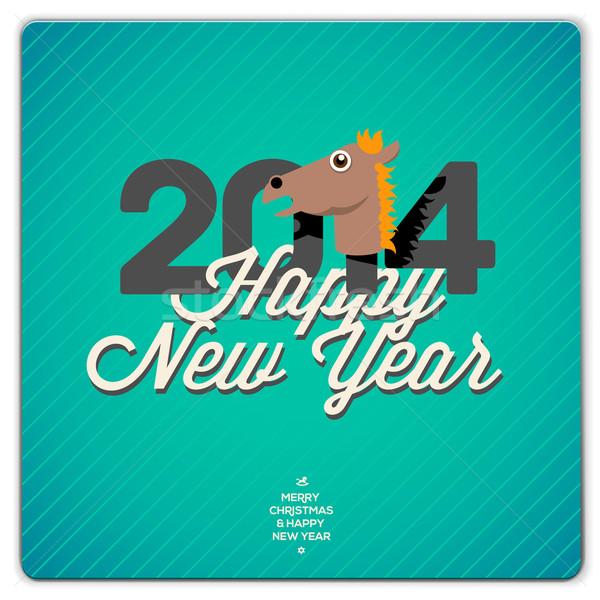 Happy New Year card, 2014 Stock photo © ikopylov