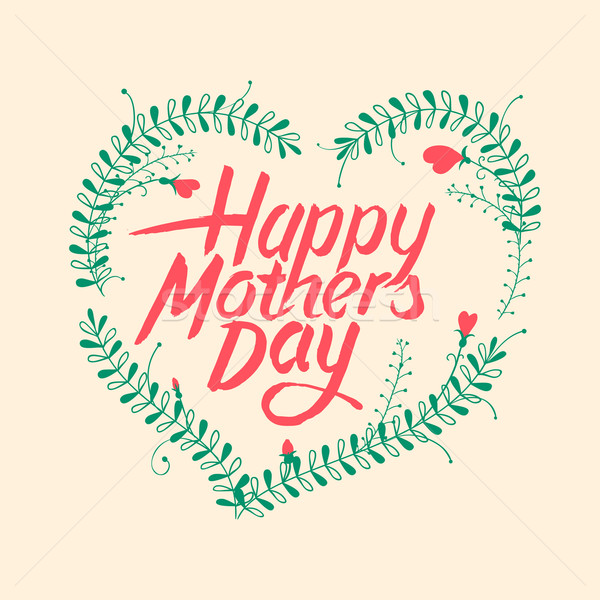 Happy mothers day, vintage typographical card Stock photo © ikopylov