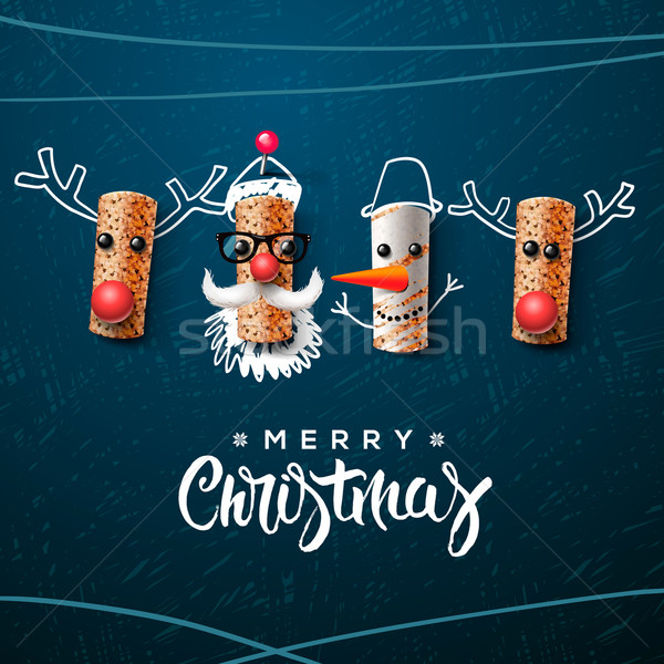 Christmas character, Santa Claus snowman, reindeer Stock photo © ikopylov