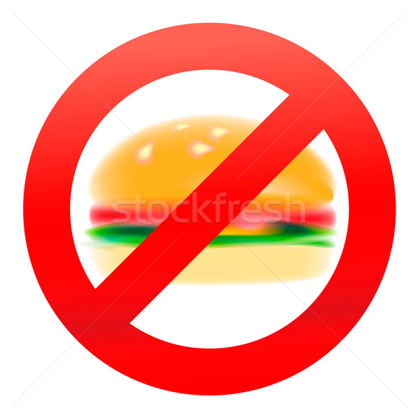 Unhealthy food, hamburger Stock photo © ikopylov