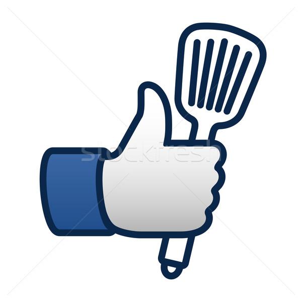 Zoals koken symbool icon spatel Stockfoto © ikopylov