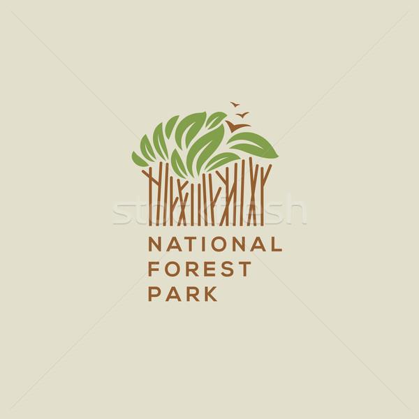 Forest national park logo Stock photo © ikopylov