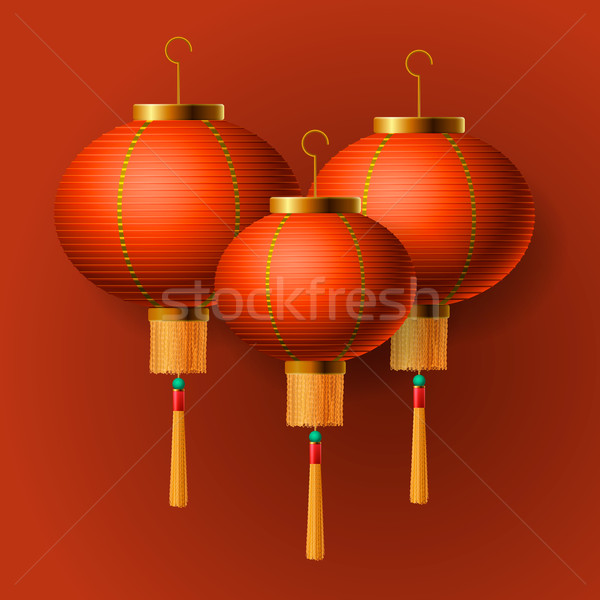 Oriental Chinese New Year lantern Stock photo © ikopylov