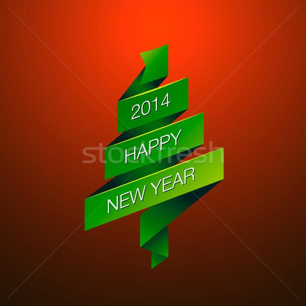 Zdjęcia stock: Szczęśliwego · nowego · roku · czerwony · wektora · eps10 · obraz · papieru