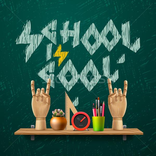 School cool sjabloon scholen werkruimte Stockfoto © ikopylov