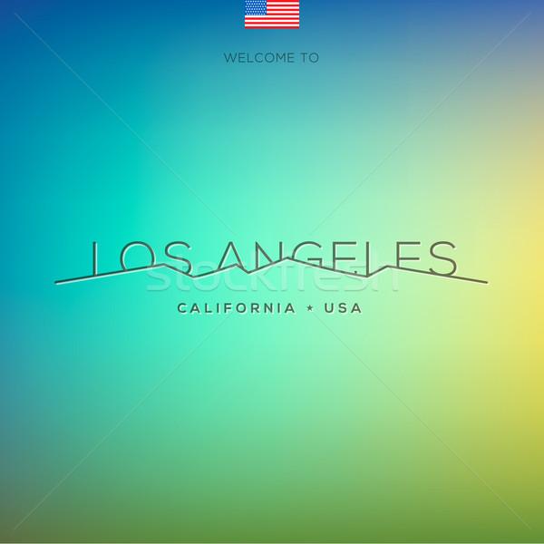 Wereld steden Los Angeles vector eps10 Stockfoto © ikopylov