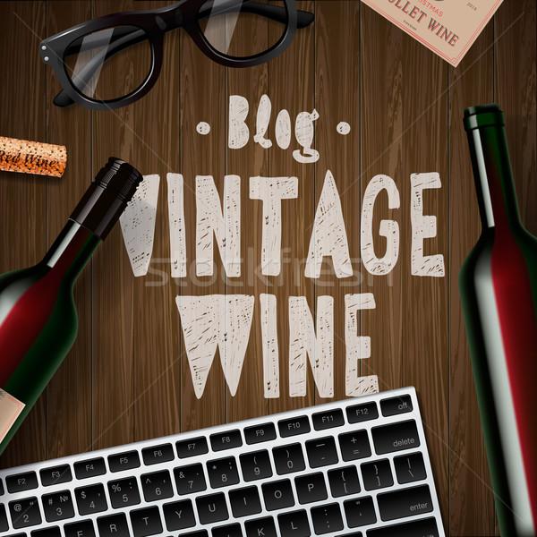 Blog about wine, wine lovers, tasting Stock photo © ikopylov