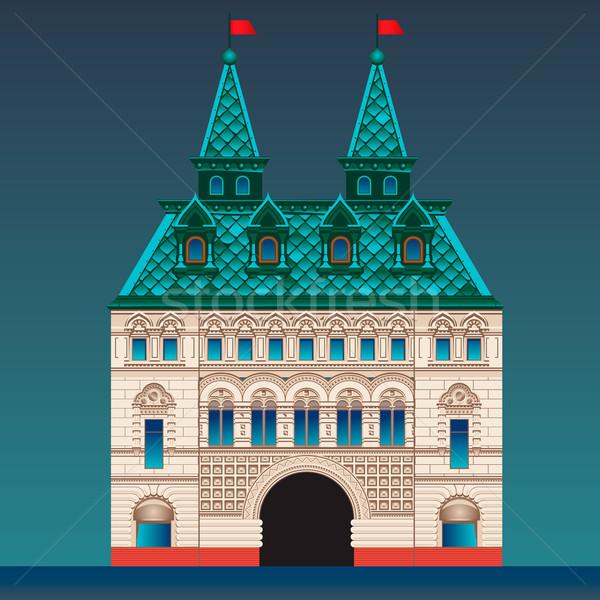Russo stile casa palazzo vettore eps10 Foto d'archivio © ikopylov